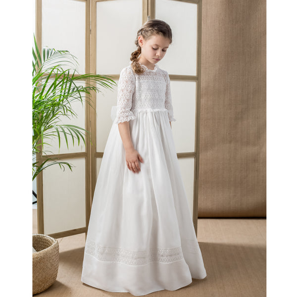 Linen Communion Dress
