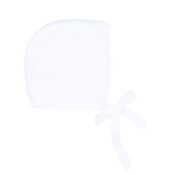 White Knit Bonnet