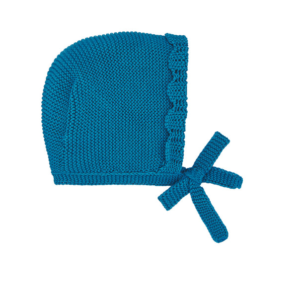 Aquamarine Knit Bonnet