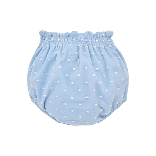 Blue Polka Dot Diaper Cover