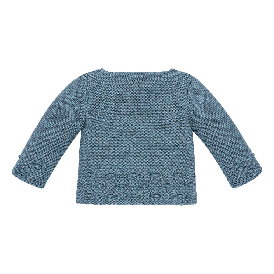 Bright Blue Knit Baby Sweater
