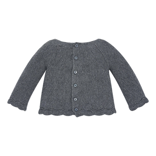 Charcoal Knit Baby Sweater