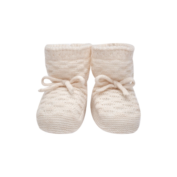 Ivory Knit Booties