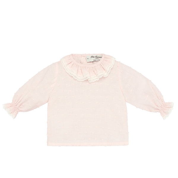 Ruffled Rose Lace Baby Blouse