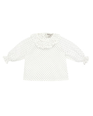 Ruffled Dotted Blouse