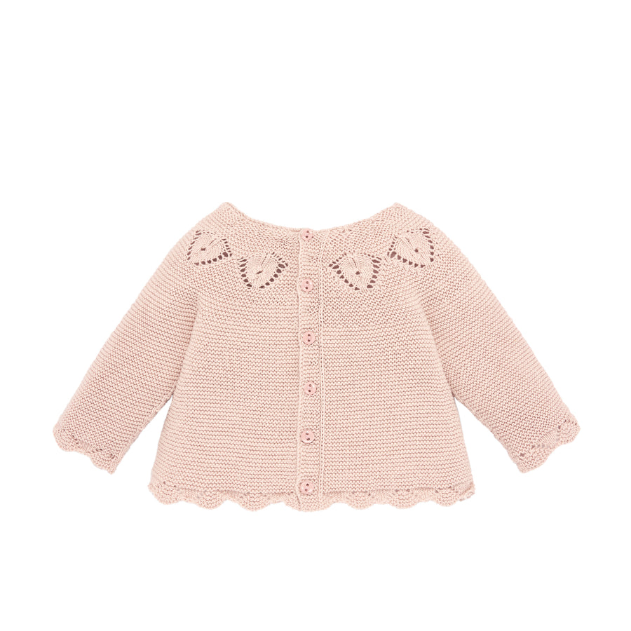 Knit Rose Baby Sweater