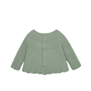 Sage Green Knit Baby Sweater