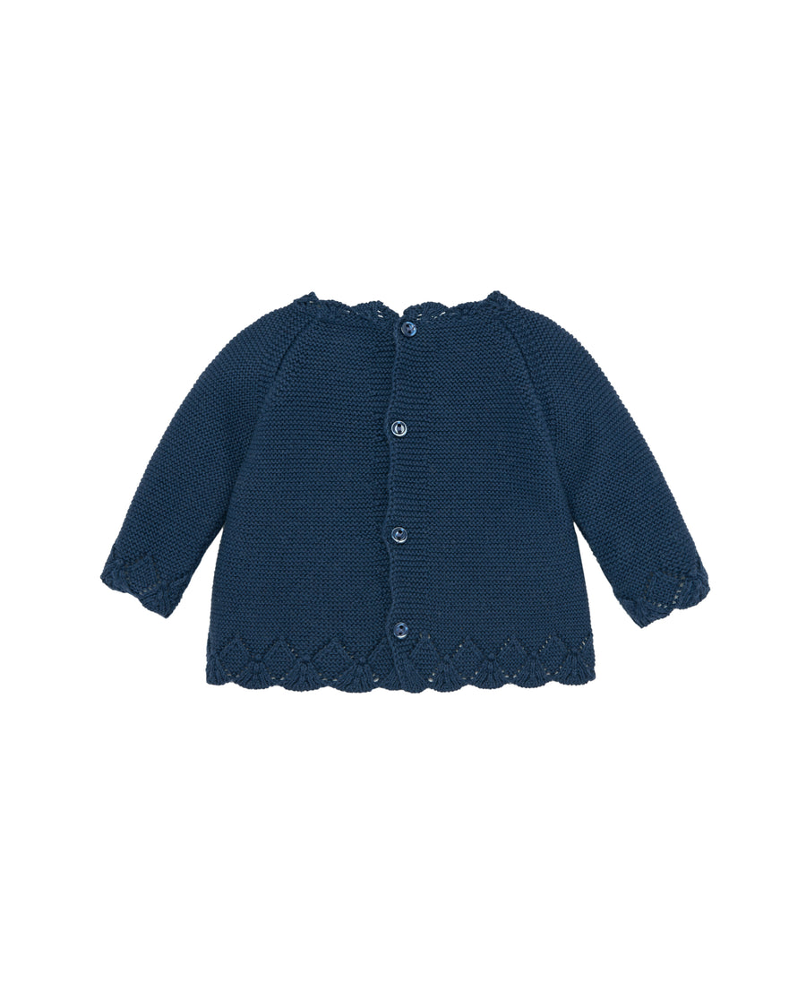 Navy Baby Sweater