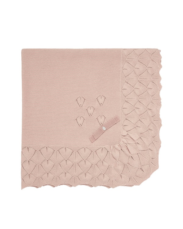 Blush Pink Knit Blanket