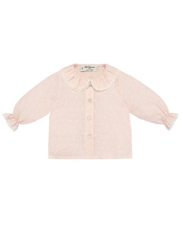 Powdery Pink Blush Blouse