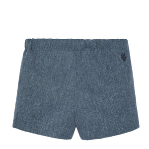 Corduroy Blue Shorts