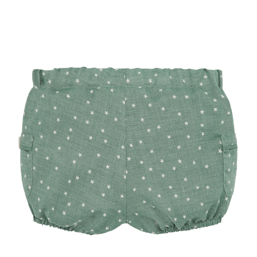 Starry Green Baby Shorts