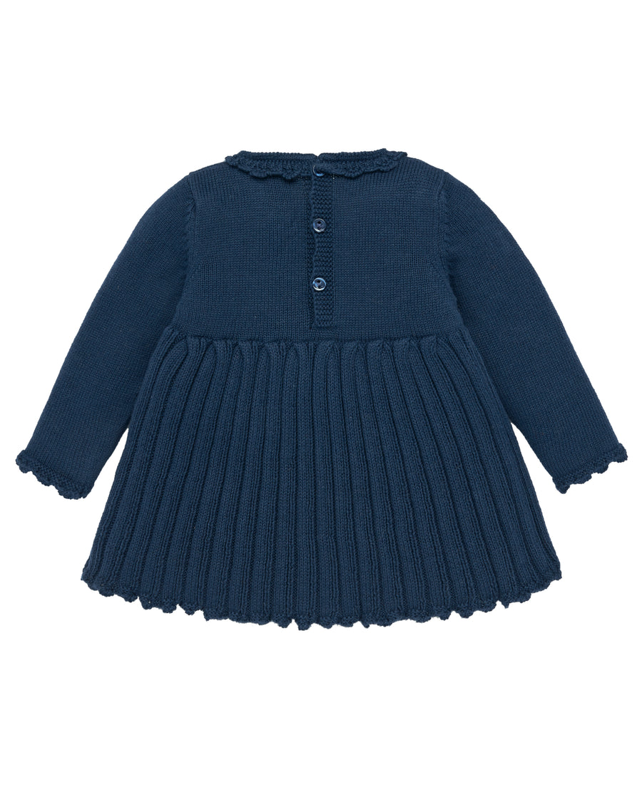 Knitted Penguin Pleated Dress