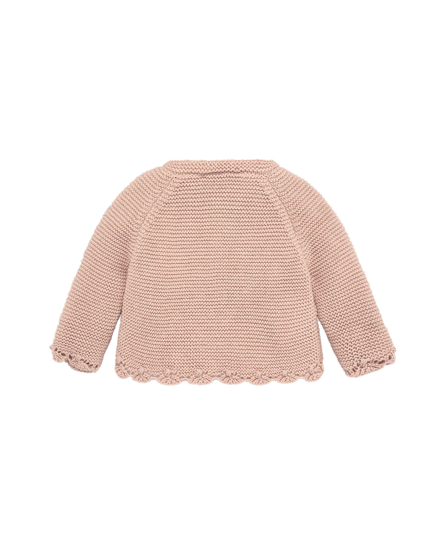 Powder Pink Knit Cardigan