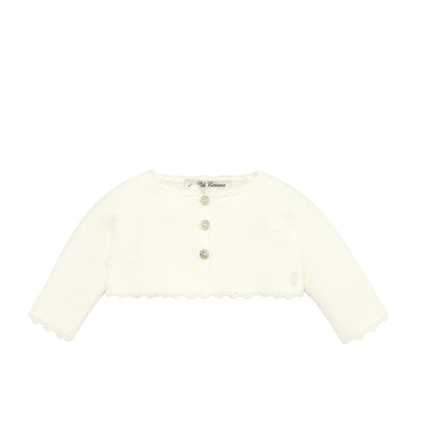 Ivory Bolero Knit Sweater