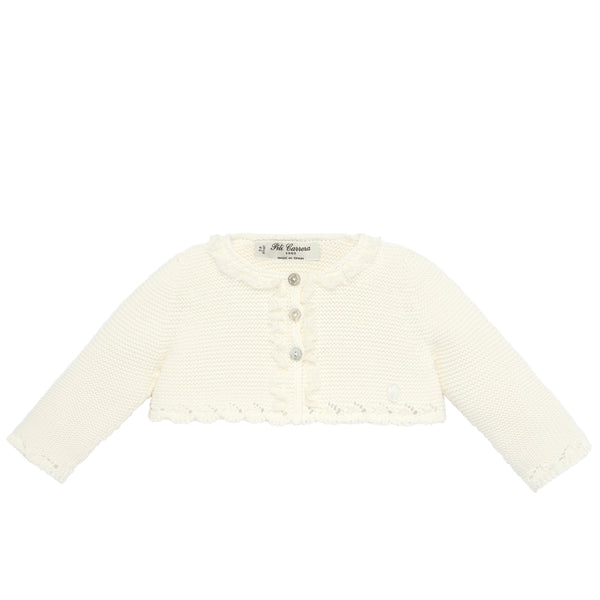 Knit Ivory Bolero Sweater