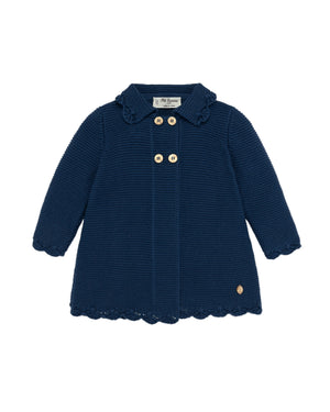 Navy Knit Coat