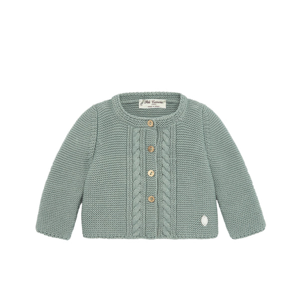 Green Knit Cardigan
