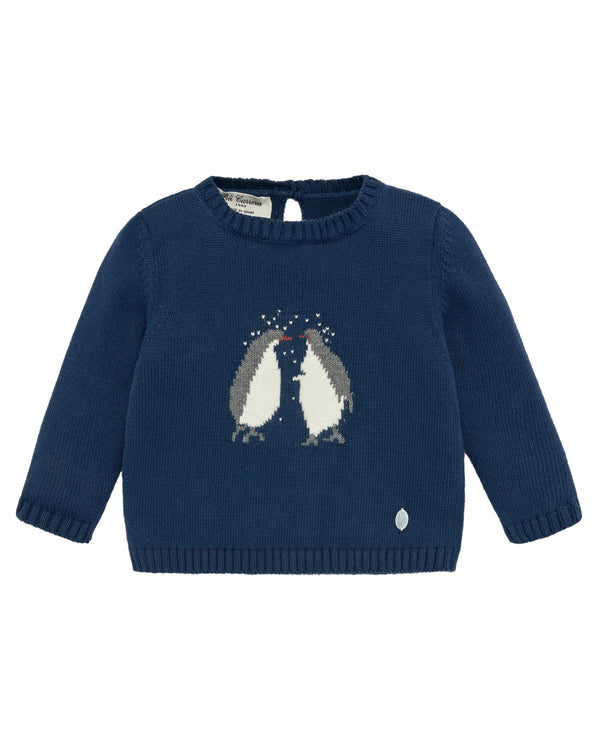Penguin Navy Pullover Sweater
