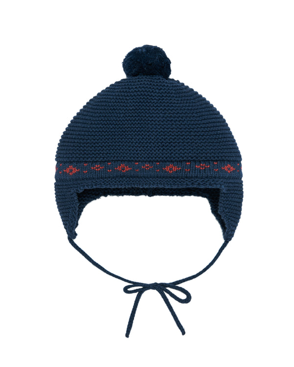 Navy Knit Bonnet