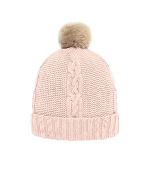 Cable Knit Bonnet