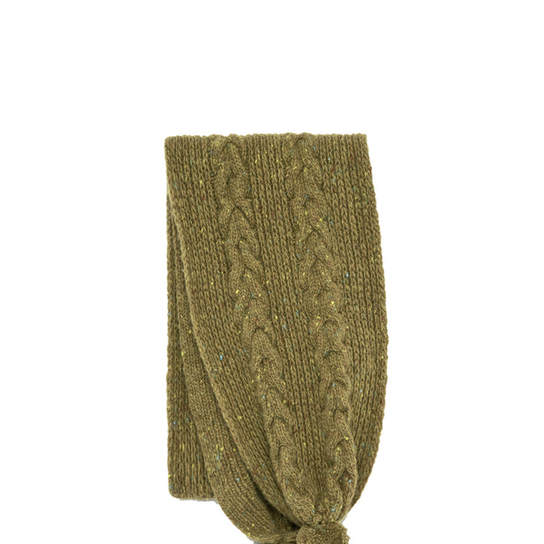 Cable Knit Olive Scarf