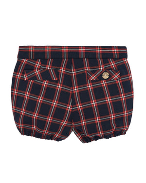 Plaid Navy and Red Short-Trouser