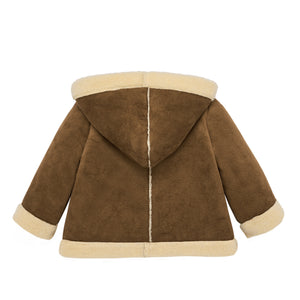 Shearling Bonneted Coat