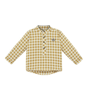 Olive Checkered Dress Shirt