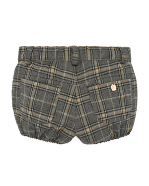 Plaid Baggy Trouser Shorts