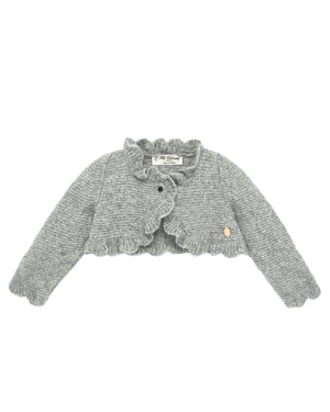Gray Scalloped Cardigan