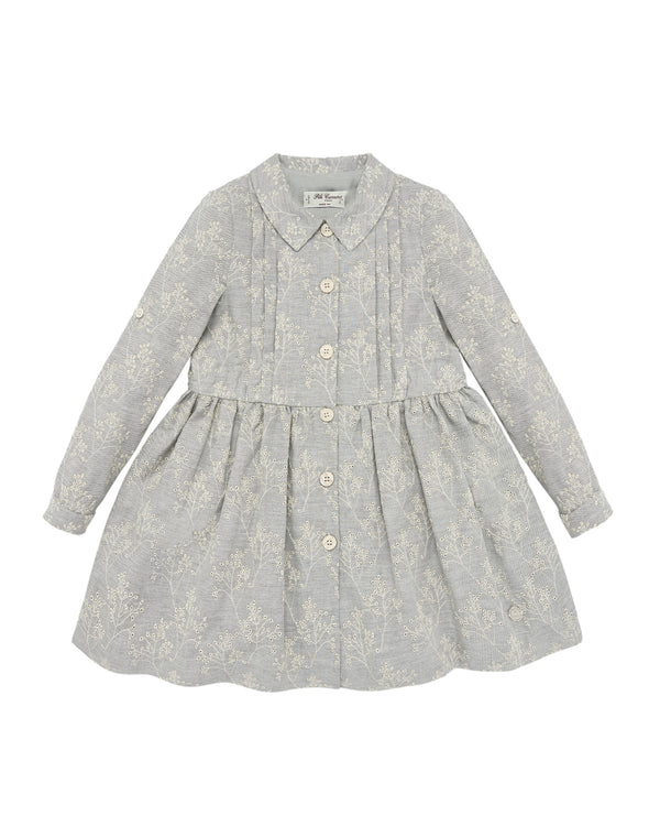 Gray Blossoms Dress