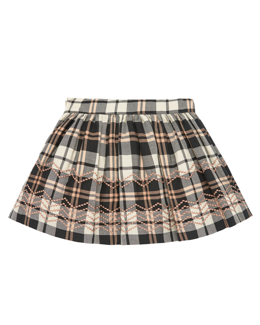 Brown and Pink Tartan Skirt