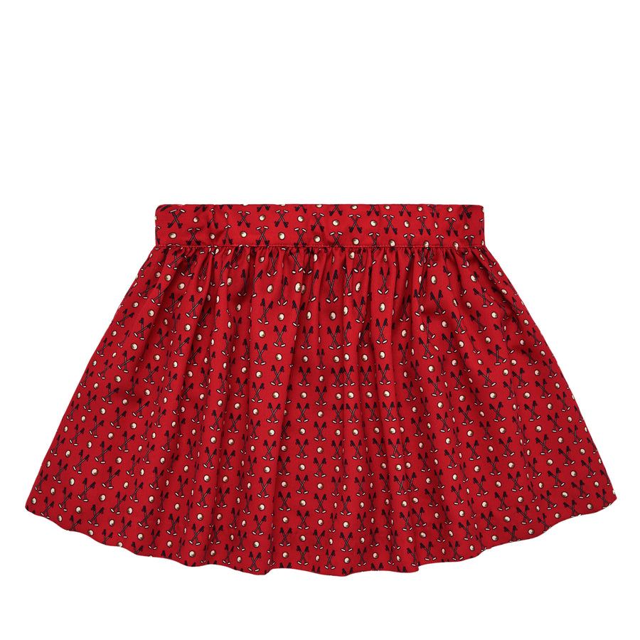 Red Clubs Skirt