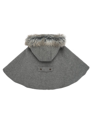 Hooded Gray Cape
