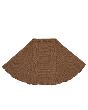 Knit Brown Cape