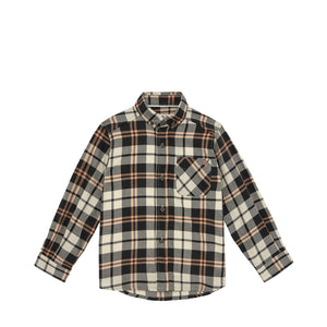 Brown Tartan Dress Shirt