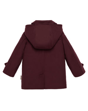 Burgundy Hooded Coat