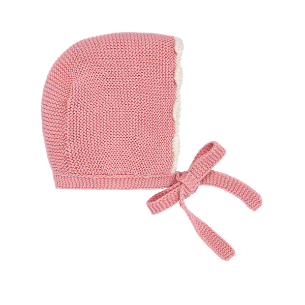 Rose Knit Bonnet