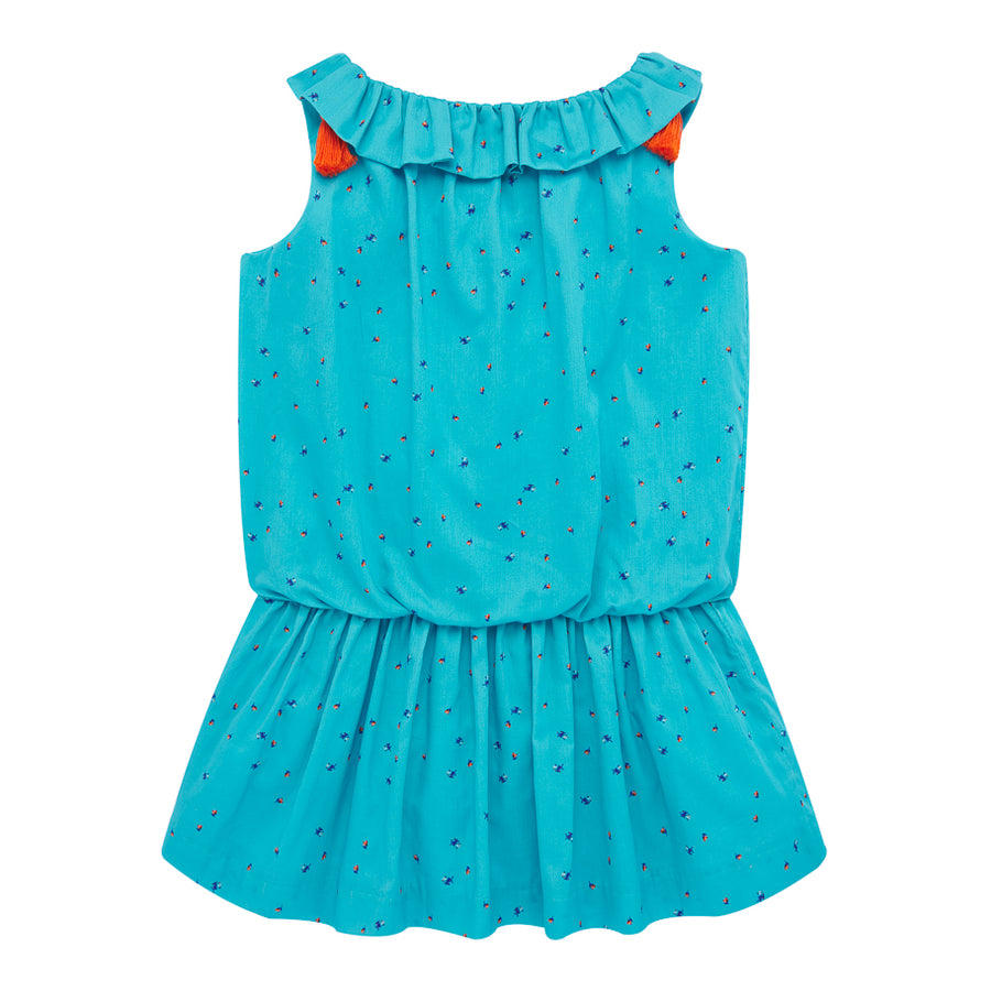 Turquoise Eyelet Dress