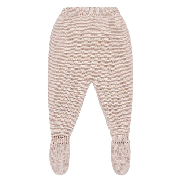 Beige Knit Baby Leggings