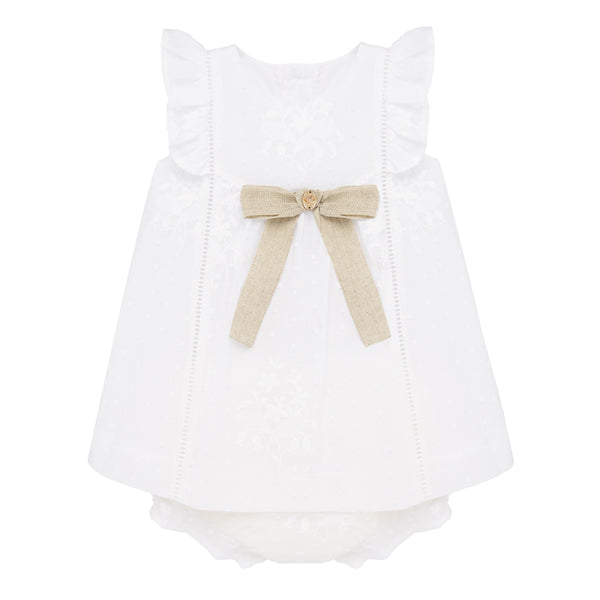 White Flutter Dress