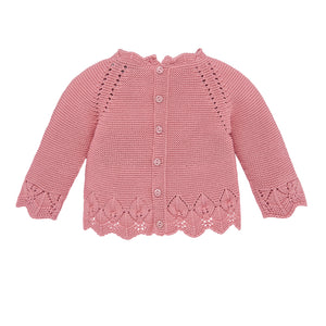 Rose Knit Baby Sweater