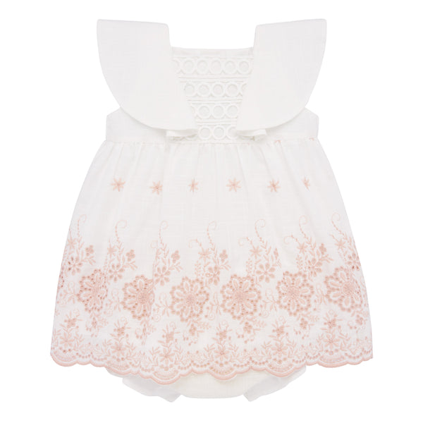 White Flutter Spring Dress