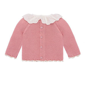 Ruffled Baby Sweater
