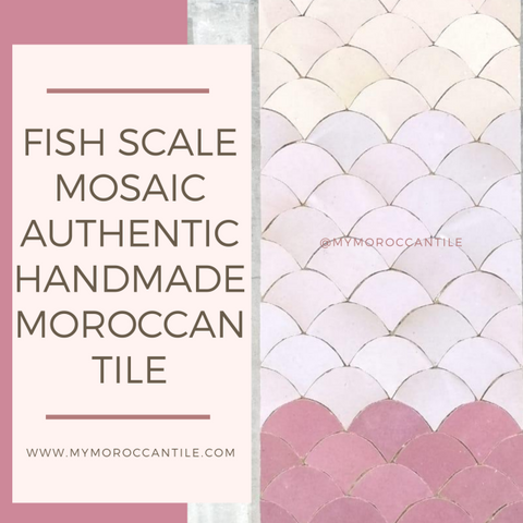 Fish Scale Mosaic: an authentic handmade Moroccan tile