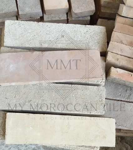First production step results in two product families: Natural Unglazed Terracotta, Natural Unglazed Zellij which will be cut in ceramic and mosaic tile shapes