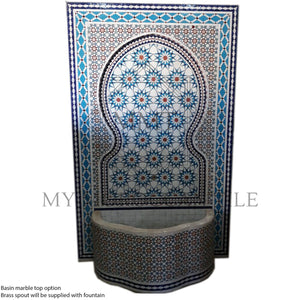Mosaic wall fountain 1201