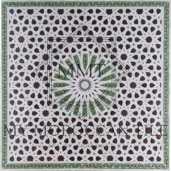 20 Fold Square Moroccan Mosaic Table Top 20119