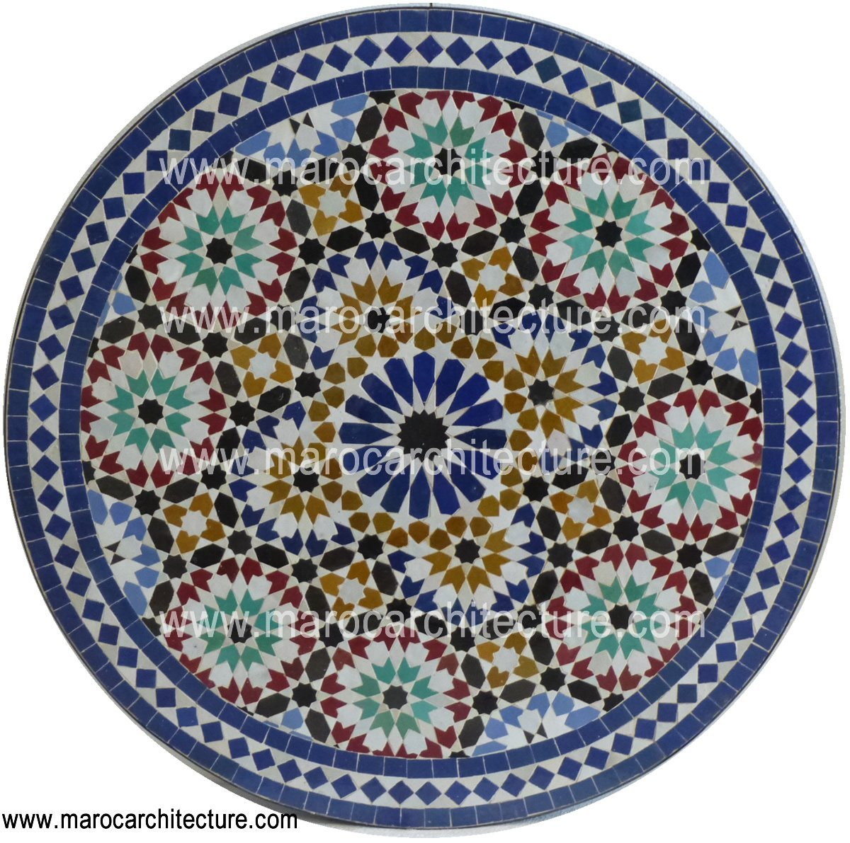 Sixteen Pointed Mosaic Table Top 1908